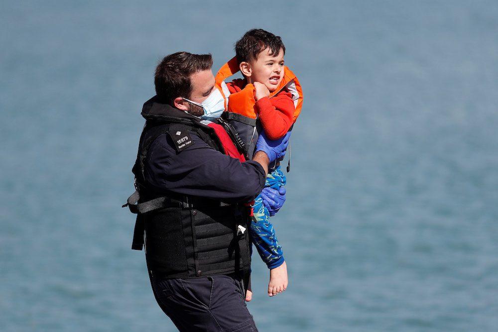 Rescued Migrants arrive in Dover